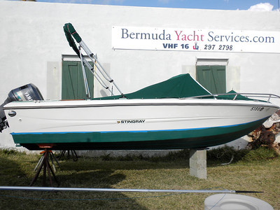 At Bermuda Yacht Services (Convict Bay Boatyard) getting a new coat of bottom paint - 23rd March 2013