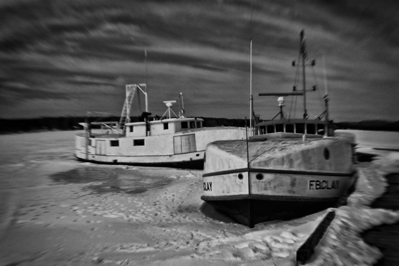 Fishing Tugs on Batchewana Bay, Lake Superior