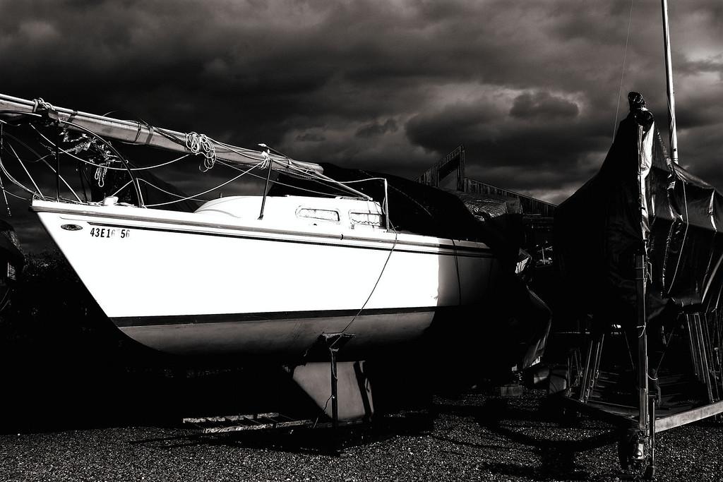 Sailboats at Bellview Marina, Soo Ontario