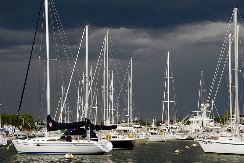 Before Storm. Falmouth Harbor