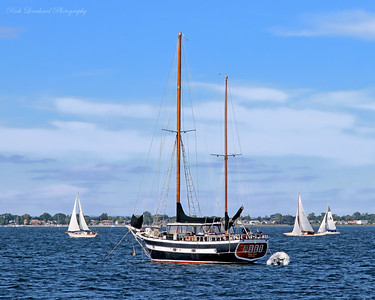 Vagrant Gipsy sailboat from New Orleans anchored in Oyster Bay Harbor.