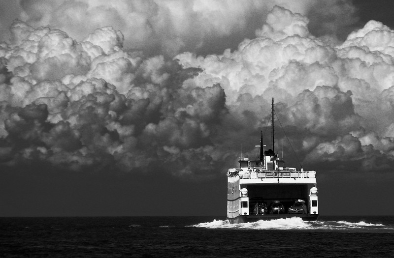 Block Island ferry heading toward Point Judith, RI.