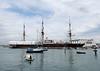 HMS Warrior alongside Portsmouth Historic Dockyard