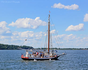 The Christeen Oyster Boat heading out in Oyster Bay Harbor.