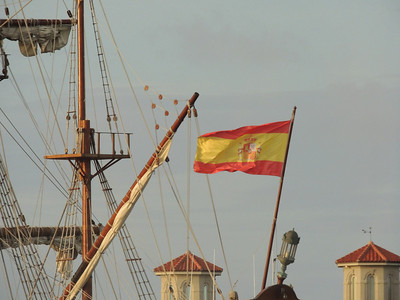 El Galeon- El Galeón, a 175-foot authentic wooden replica of  a Spanish galleon, that was built in Spain