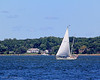 Sailboat in Oyster bay Harbor.