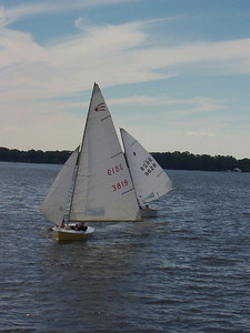 Fall Series, the first year we had the Comet Fleet - at Ship Point on the Corsica River.