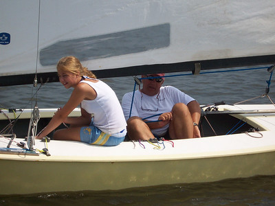 Sandy Downes and daughter Kate crewing together, 2006.