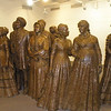 Life sized Bronz figures of participants of the convention.