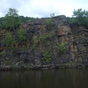 Cliffs- The narrowest part of the Mohawk Valley is at the town of Little Falls. Shortly after passing this village built on a hill and dropping 40' in lock 17, the canal passes by some spectacular rock formations.