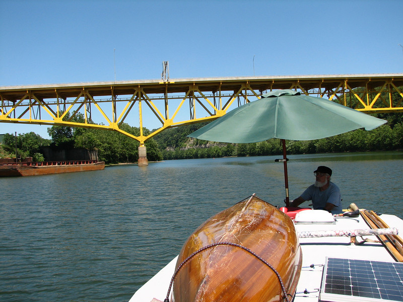 On Wednesday we headed up the Monongahela river to lock four.  Lock four is closed for repairs.