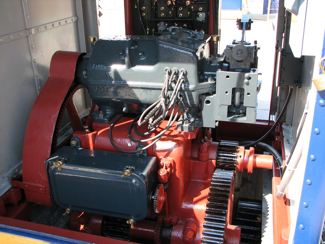 The lock tender showed Lynn and I the seven horsepower DC motor installed in 1914 and still used today to operate the locks.