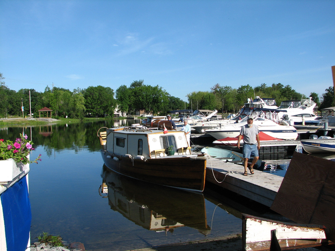 The boat  has launched at last  - at Driftwood Marina in Port Sevron, Ontario.