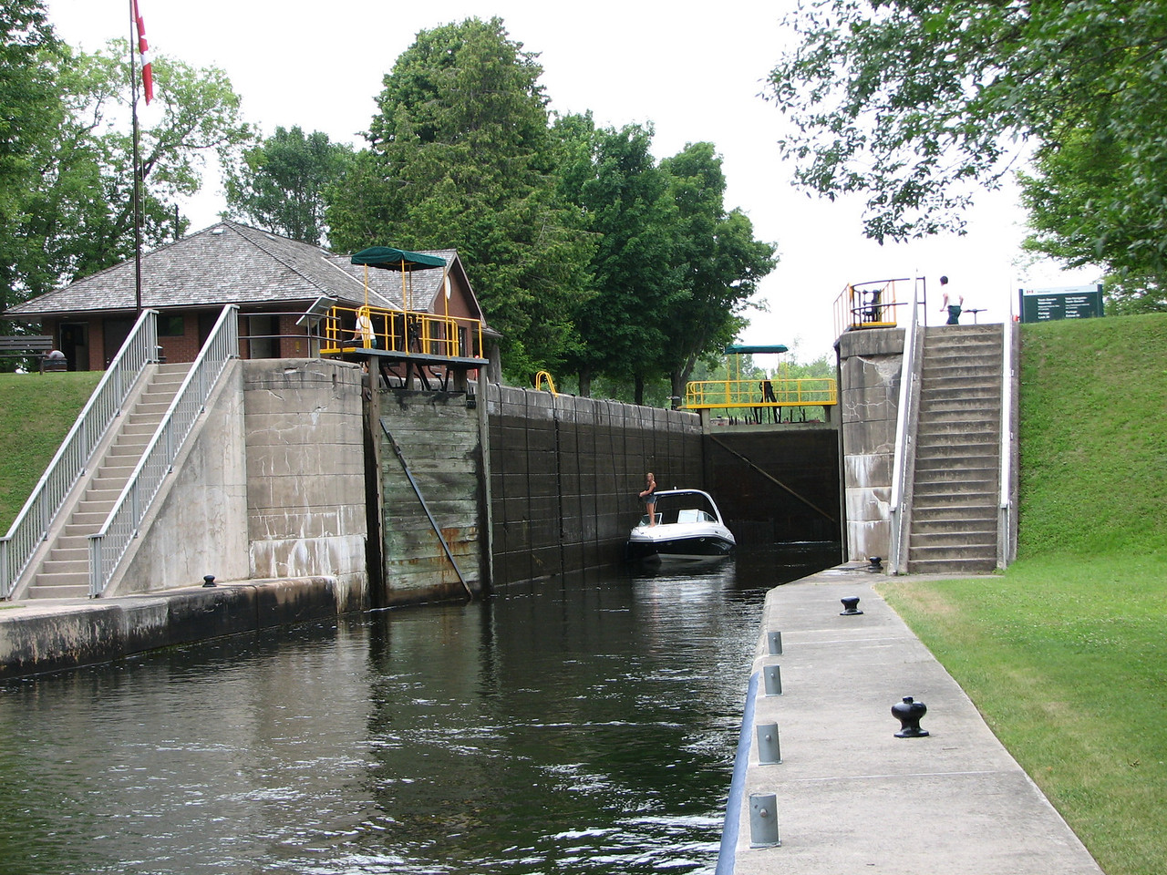 We approach lock 39, Portage, and wait our turn to go through.