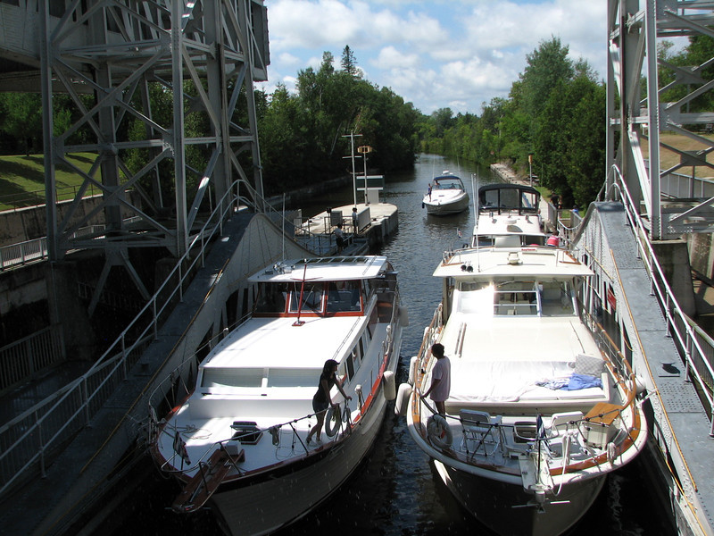 Four very large boats, or some configuration of smaller boats, can be accommodated at the same time.