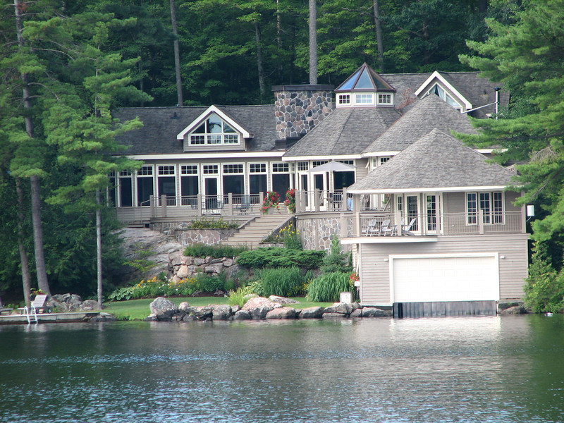 A beautiful home with boat-house.