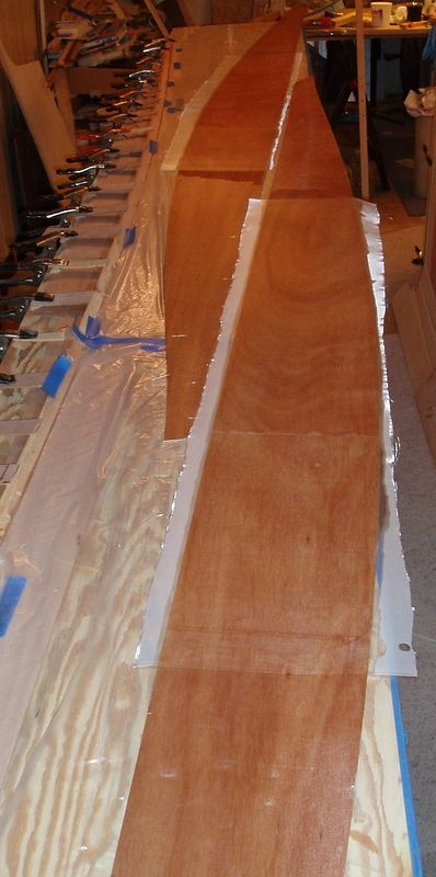 Bottom panels ready for stitching.