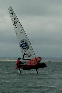 Paul Goodison sailing a Moth.