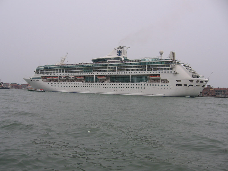 SPLENDOUR OF THE SEAS leaving Venice.
