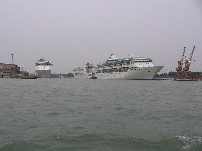 COSTA MEDITERANNEA, MSC ARMONIA  and SPLENDOUR OF THE SEAS.