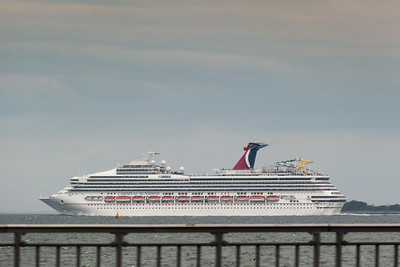 Carnival Sunshine sailing out of NYC