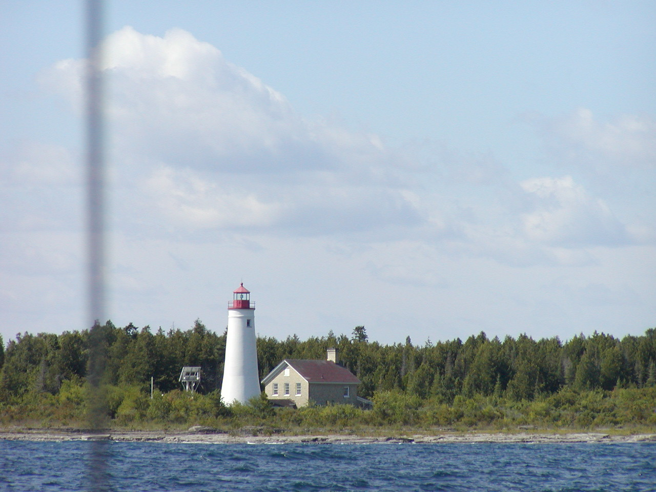 Lighthouse on island near Alpena.
