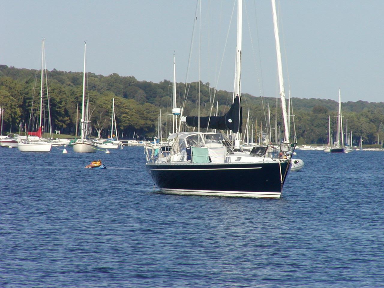 "Our ""neighbor"" at anchor at Harbor Springs out-classes us in size and cost."