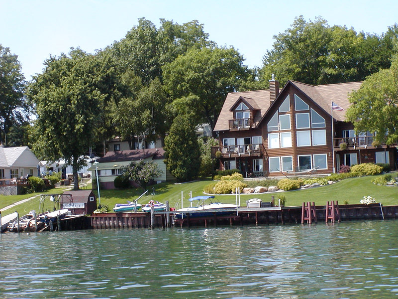 Waterfront homes are typically equipped for water sports.