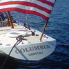 "On Sept. 26, 1958 Columbia beat her English competitor, Sceptre, in the fourth and final race of the America's Cup. (Source: <a href=""http://12meterchartersnewport.blogspot.com/2011_09_01_archive.html"">http://12meterchartersnewport.blogspot.com/2011_09_01_archive.html</a>)"