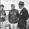 Sailing photo with Briggs Cunningham, Harold Vanderbilt & an unknown person (Photo credit: Jerry Taylor (from his son Mark Taylor))