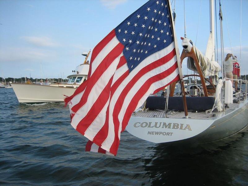 Yacht Columbia - Newport, RI, August 5, 2008