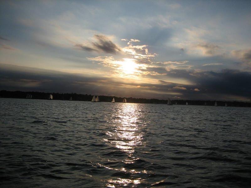 Sailing on the Yacht Columbia - Newport, RI, August 5, 2008