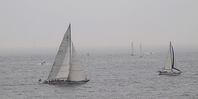 12-Meter America's Cup Yacht US16 - Columbia, sailing in Newport Harbor (Photo by Joe Tecza on Flickr)
