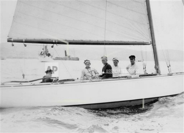 Briggs Cunningham - six-meter yacht race in England, August 1932 (AP Photo)