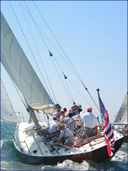 "Columbia in Newport Harbor (Source: <a href=""http://www.12metercharters.com/history.asp"">http://www.12metercharters.com/history.asp</a>)"