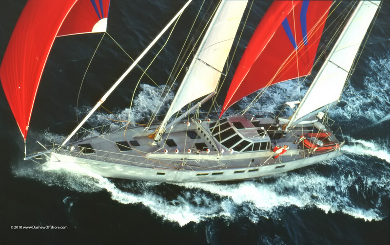 78 foot ketch Beowulf at speed.