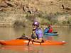Neal floating along. Desolation & Gray Canyons 2014