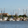 Shrimp Boats in East River in Downtown Brunswick, Georgia