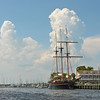 The Peacemaker (Avany) in the East River at Downtown Brunswick, GA - 06-26-11
