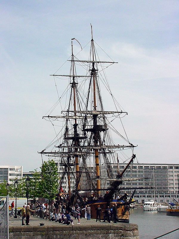James Cook's Endeavour in Antwerp