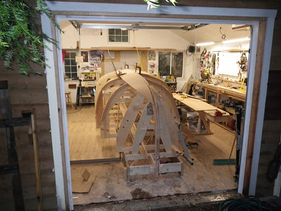 Garboard plank test fit