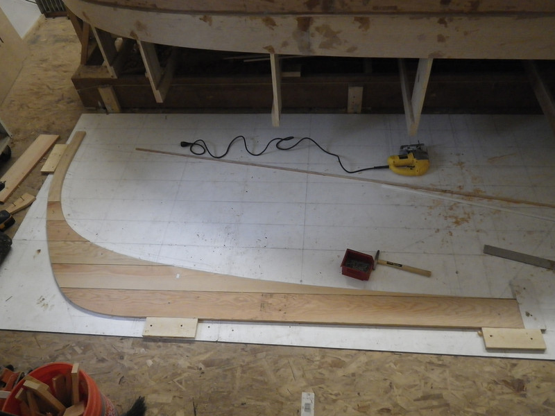 First layer (of 4) for the aft deadwood/keel area
