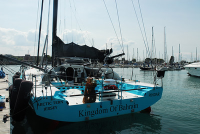Pindar, the broadest Open 60 in the fleet.