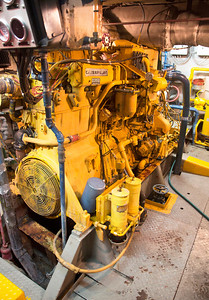 The Ferrel's main diesel engine