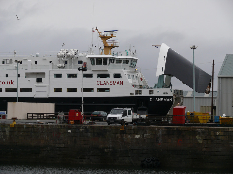 CLANSMAN in Garvel Dry Dock.<br /> 7th March 2009