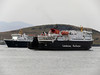 ISLE OF MULL and CLANSMAN in Oban Bay.<br /> 9th April 2011.