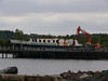 Former Calmac ferry Juno being scrapped at Rosneath.<br /> 4th June 2011.