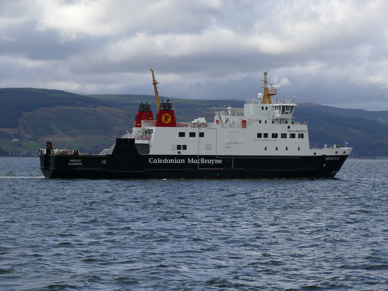 Argyle arriving at Wemyss Bay from Rothesay.<br /> 8th April 2009