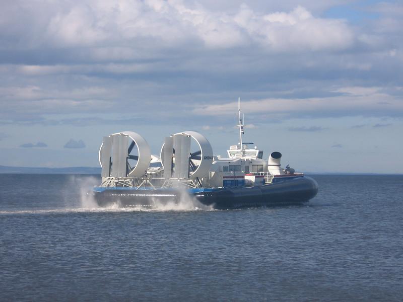 Hovercraft SOLENT EXPRESS on the new ForthFast crossing from Kirkcaldy to Portobello on a two week trial.<br /> 16th July 2007.