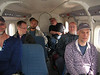 Inside the Twin Otter (Paul, Paul, Sergei, Patrick, Donald, Phil, Kent)